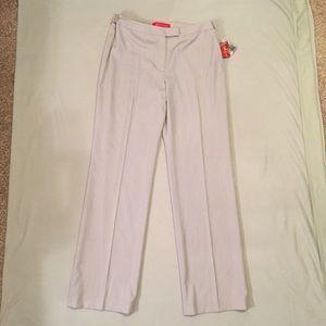Anne Klein light GREY dress pants 12